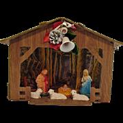 Vintage Nativity Display Scene 1960s Heavy Cardboard Good Condition