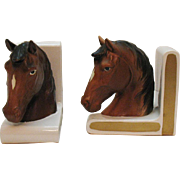 Vintage Lefton Horse Ceramic Bookends 1960-83 Very Good Condition