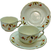 Vintage Two Sets of Jewel Tea Autumn Leaf Pattern Ruffled D Style Dinnerware 1936-76 ...