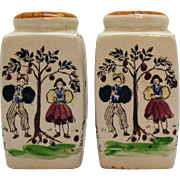 Vintage Ceramic S&P Shakers Hand Painted Made in Japan 1950-60s Good Condition
