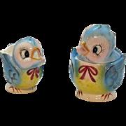 Vintage Lefton Blue Bird Sugar & Creamer Set 1953-71 Good Condition