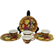 Vintage Lefton Brown Heritage Luncheon Sets 1949-64 Good Condition