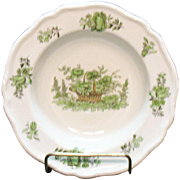 Vintage Spode Copeland 12 Cereal/Fruit Bowls Bone China Green Basket Pattern #8135 Very Good C