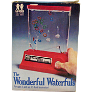 Vintage Waterfuls Ring Toss Game by Tomy Co 1976 Original Box Like New Condition