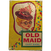 SALE Vintage Old Maid Card Game 1950s Good Condition