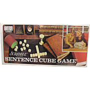 Vintage Scrabble Brand Sentence Cube Game 1971 Complete Good Condition