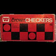 Vintage Crown Checkers by Whitman Publishing Co Hard Plastic 1969 Original Box Good Condition