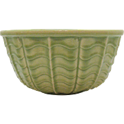 Vintage Robinson Ransbottom Mixing Bowl Green with Wave like Motif 1930-50s Good Condition