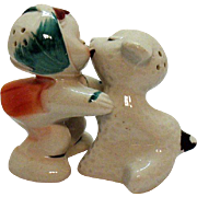 Vintage VanTellingen Mary with White Lamb Hugger S&P Shakers 1950s Regal China Co. Good ...