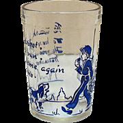 Vintage Hazel Atlas Nursery Rhyme Glass 1930-50s Good Condition