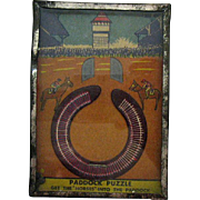 Vintage Hand Held Game Paddock Puzzle 1940s Good Condition