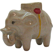 Vintage Ceramic Elephant Toothpick Holder or Pin Cushion 1950-60s Good Condition