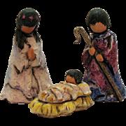 Vintage Ted DeGrazia 3 Piece Goebel Nativity Scene 1984 Good Condition
