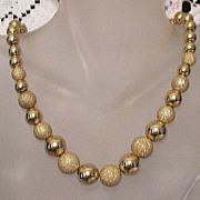 SALE 50% OFF~Gorgeous Vintage Necklace Golden Sugar Coated Beads~Unworn