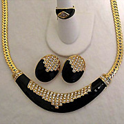 SALE 50% OFF~Vintage Estate Italian Signed Park Lane Parure Necklace Ring Earrings Set ...
