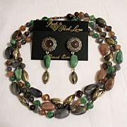 SALE 50% OFF~Vintage Jewels by Park Lane Lucite Necklace Earring Set~Unworn