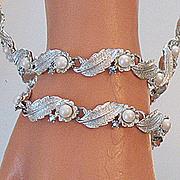 SALE 50% OFF~Vintage Floral Buttercup Signed Judy Lee Necklace Bracelet Set