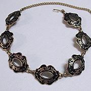 SALE 50% OFF~Gorgeous Vintage Vendome Enameled Gold Metal Necklace