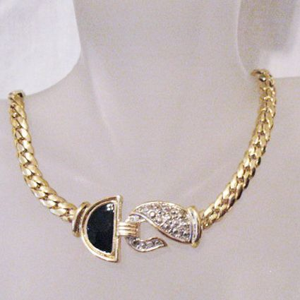 24 carat gold jewelry chunky vintage 24 carat gold plated necklace faux 1844
