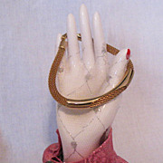 SALE 50% OFF~Lovely Vintage Golden Mesh Bracelet Signed Avon