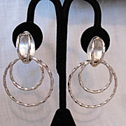 SALE Unique Vintage Sterling Silver Signed TN-86 Taxco Mexican Pierced Earrings