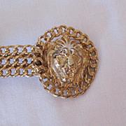SALE HUGE Vintage Double Lion 1980s Belt Buckle~Unworn