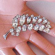 SALE Signed Sparkling Austrian  Rhinestone Vintage  Brooch/Pin