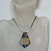 SALE 50% OFF~Vintage Abstract Signed Trifari Two Tone Necklace
