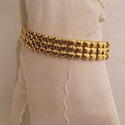 SALE Vintage Signed Trifari Triple Heart Bracelet~Unworn