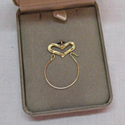 SOLD Gorgeous Vintage 14K Gold Charm Holder Pendant~Original Box