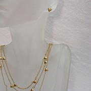 SALE AVON of Belleville Vintage Heart Charm Necklace Earrings Set