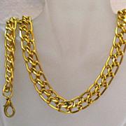SALE Vintage Gold Eloxal Double Link Chain Necklace Bracelet Set
