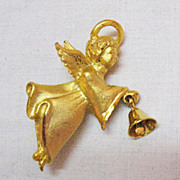 SALE Signed G G USA Vintage Guardian Angel with Bell Brooch