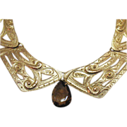 SALE Vintage Egyptian Revival Collar Necklace