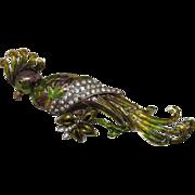 SALE Vintage Jaw Dropper Fantasy Vintage 5 ¼ Inch Cockatoo Brooch