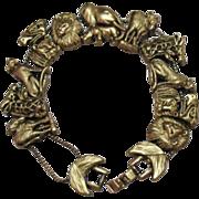 SALE Vintage Florenza Noah's Arc Slide Bracelet~Unsigned