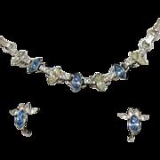 SALE Sterling Silver Engel Brothers Necklace & Earrings Set