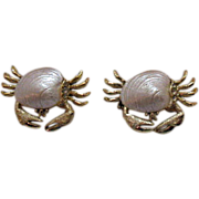 SALE Darling Vintage Sand Crabs Scatter Pins Claim Shells