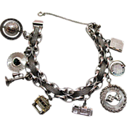 SALE Amazing Vintage Sterling Silver Charm Bracelet Bracelet Unusual