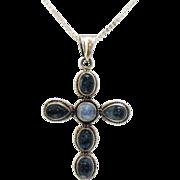 SALE Retired Nicky Butler Genuine Quarts Cross Necklace