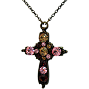 SALE Retired Vintage Nicky Butler Cross Necklace~France