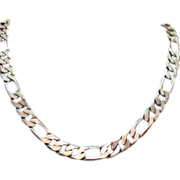 SALE Vintage Figaro Chain Necklace Sterling Silver~69 Grams