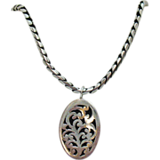 Vintage Hand Made Sterling Silver Lois Hill Necklace