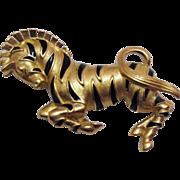 SALE Vintage Signed Trifari Prancing Zebra Brooch