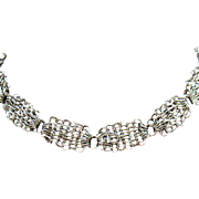 Vintage Signed Whiting & Davis Chain Choker Necklace