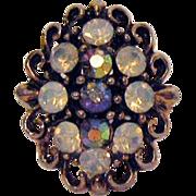 Vintage Costume Jewelry Rhinestone Ring