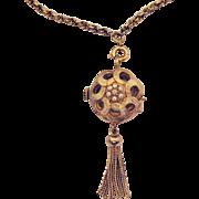 Rare Vintage Swiss Taylor Pendant Necklace Watch
