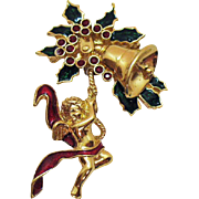 Vintage 1996 Signed Smithsonian Avon Angel Pin