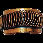 Vintage Unsigned Renoir Enameled Copper Coil Bracelet