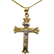 SOLD Vintage Signed Victoria Grant 14K Gold Cross Necklace